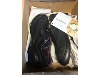 Lavoro ladies steel toe cap black trainers - size 5 and 8