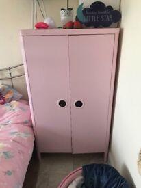 Children's pink wardrobe