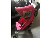 Pink maclaren stroller