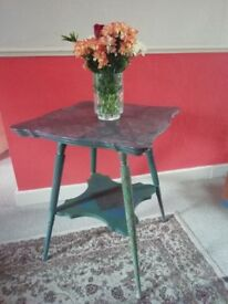 Beautiful Upcycled Antique Side Lamp Occasional Table