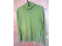 Green Next polo neck jumper size 10