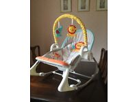 FISHER PRICE 3 in 1 SWING 'N ROCKER. BOXED. AS NEW