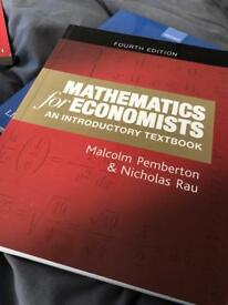 Mathematics for Economists: An Introductory Textbook