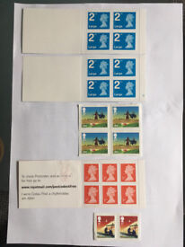 Royal Mail 1st and 2nd Class Stamp Books