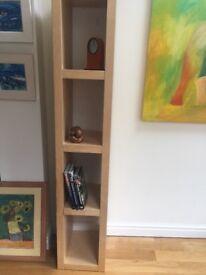 Used Ikea white wood veneer shelf unit clean smoke pet free home