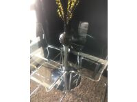 Designer Glass Dinning table & chairs