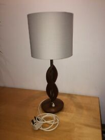 Vintage retro twisted wood table lamp