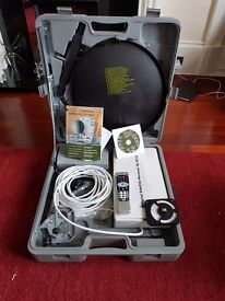 Portable satalite kit suitable for camping, boat or mobile home