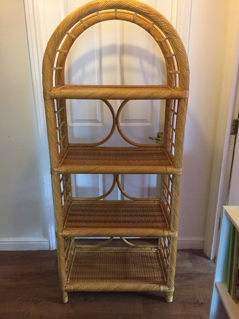 Wicker Bookcase/shelving vgc - Wicker Bookcase/shelving Vgc In Brighton, East Sussex Gumtree
