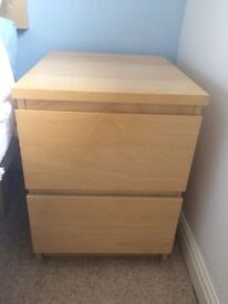 Bedside chest of drawers -Ikea