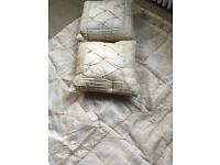 Laura Ashley Kayleigh Kingsize Bedspread and 2 matching cushions in Champagne