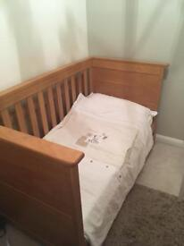 Cot bed and chest of drawers