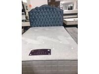 BED ( DOUBLE FABRIC BED WITH STORAGE ) NO MATTRESS