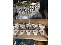 Wall lights & chandelier