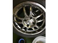 "15"" chrome wolfrace wheels"