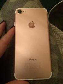 Apple I phone 7 32g rose gold