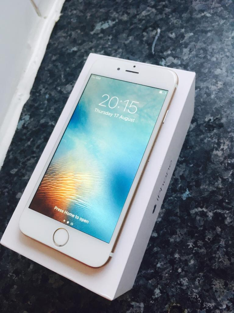 iphone 6 gold 16 gbin Canton, CardiffGumtree - iphone 6 gold 16 gb. REFURBISHED. phone perfectly working condition 100%. original battery. new screen. new back housing mettal. no scratches or marks. its brand new iphone . network vodafone. comes box and charger