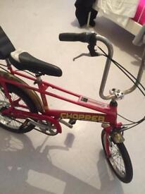 Red chopper bike