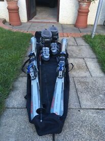 Skis,Boots,Poles and bag excellent