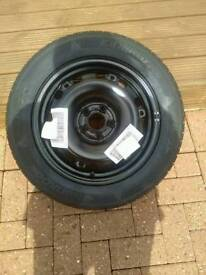 Band new tyre on wheel 185/ 60 R15