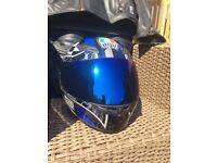 AGV MOTORCYCLE HELMET - SIZE LARGE