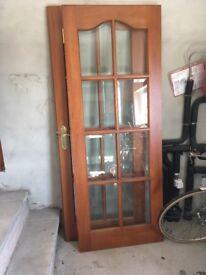Double glazed mahogany doors