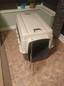 Barkshire Dog Carrier Airline Approved - Grey/White XXLarge