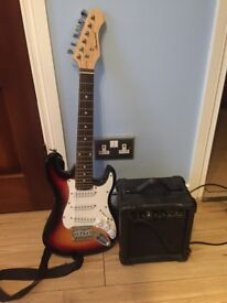Children's electric guitar with amp