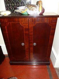 Mahogany CD Storage Cabinet