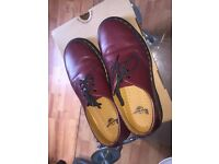 Cherry Red DR Martens mens Size UK 7 / 41 EUR . CHERRY RED SMOOTH