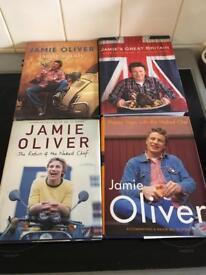 4 JAMIE OLIVER COOK BOOKS