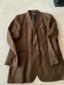 Gents H&M Brown Linen Jacket XXL (Brand new)