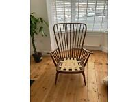 Ercol Vintage Evergreen Armchair with Original Seat Pads