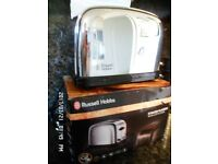 CHROME RUSSELL HOBBS 2 SLICE TOASTER IN FULL WORKING ORDER