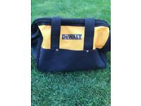 "13"" Dewalt tool drill bag. Nylon. With base runners"