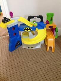 Fisher Price Race n Chase Batcave with box