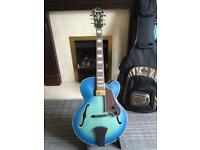 Ibanez AFJ91 blue hollow body perfect condition