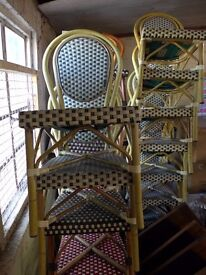 Wicker( Plastic Bamboo chairs for restaurant seating, kitchen, dining room