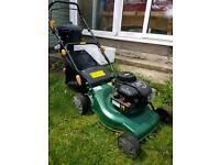 Petrol lawnmower - self propelled - nearly new
