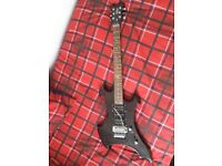 Vintage Axxe metal series electric guitar with bag