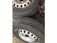 Vauxhall vivaro steel wheels and tyres