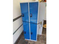 7x 4 door double lockers 6ft high with keys, blue doors in good con £125 each