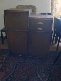 solid wood bureau approx 1950