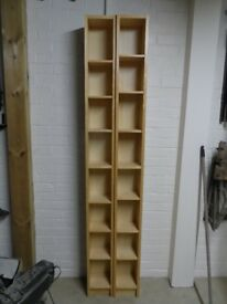 Ikea oak colour CD unit/rack x 2