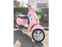 Piaggio Vespa LX50 Pink Years MOT Excellent Condition