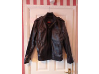 Mens Leather Jacket In Large