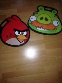 Angry birds kids lap trays.