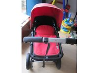 bugaboo chameleon 2 complete travel system full with foot muff, parasol included