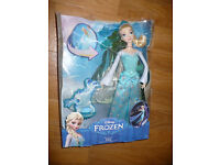 Disney Frozen Ice Power Princess Elsa Doll, new, complete in tatty box. Christmas..