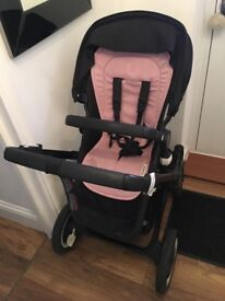 Bugaboo Buffalo Travel System, Black with Pink Liner included (can be removed)
